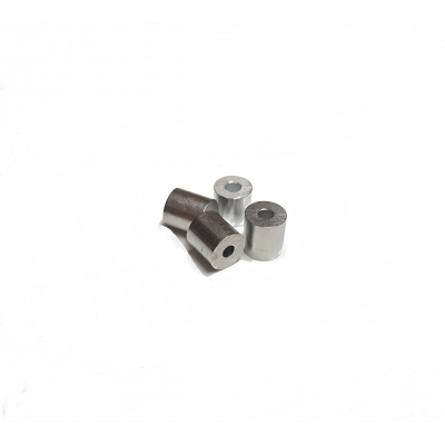 Ferrules d'aluminium simple 3/64 (100)